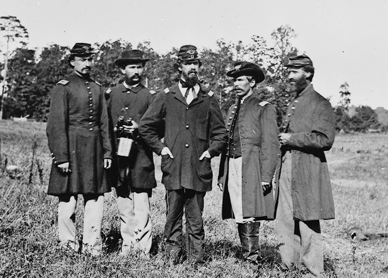 Officers of the 10th Maine at Cedar Mountain.