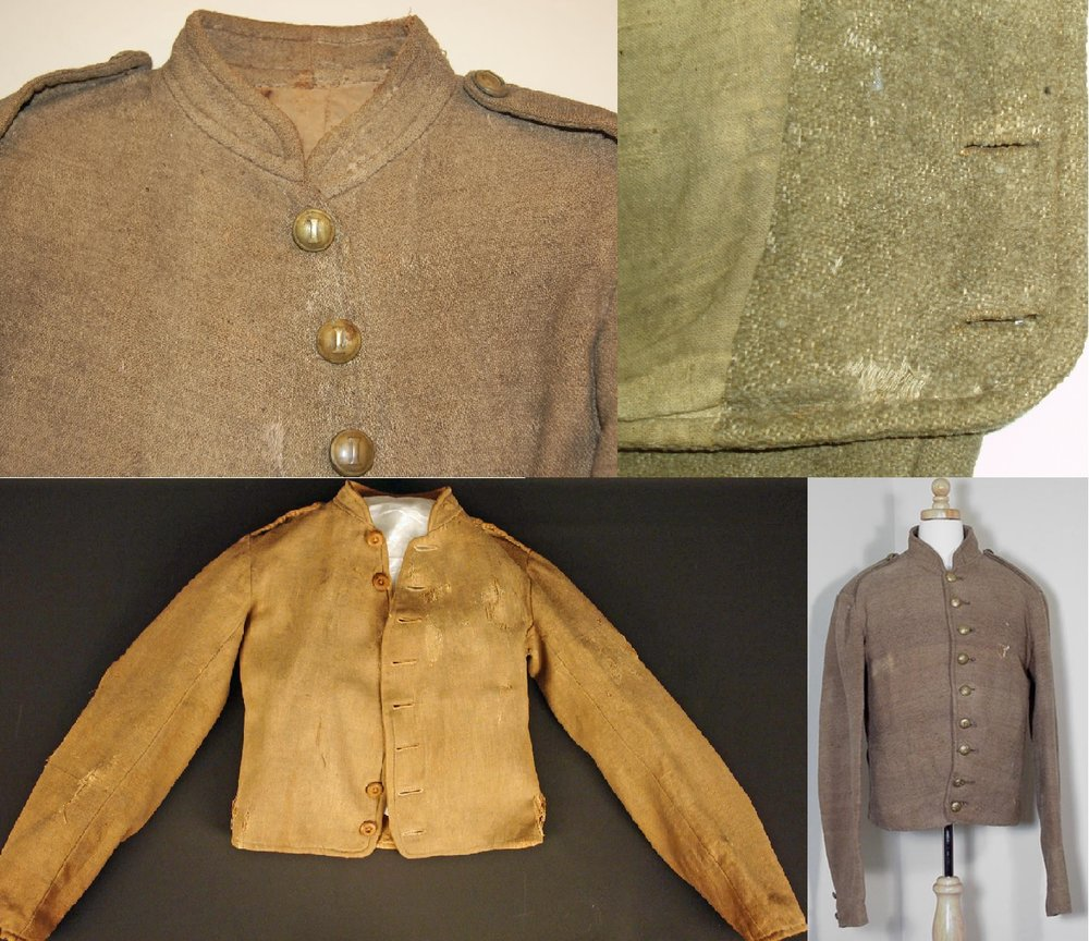 "Four surviving Richmond Clothing Bureau ""Type 2"" Jackets."