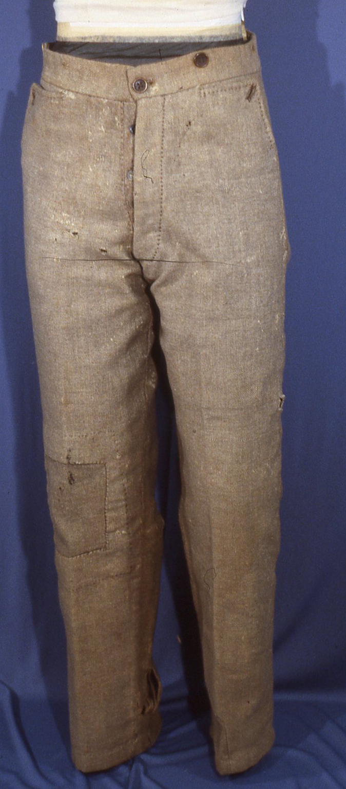 Pvt. Hollyday's Richmond Clothing Bureau trousers.  Photo Courtesy of Dick Milstead.