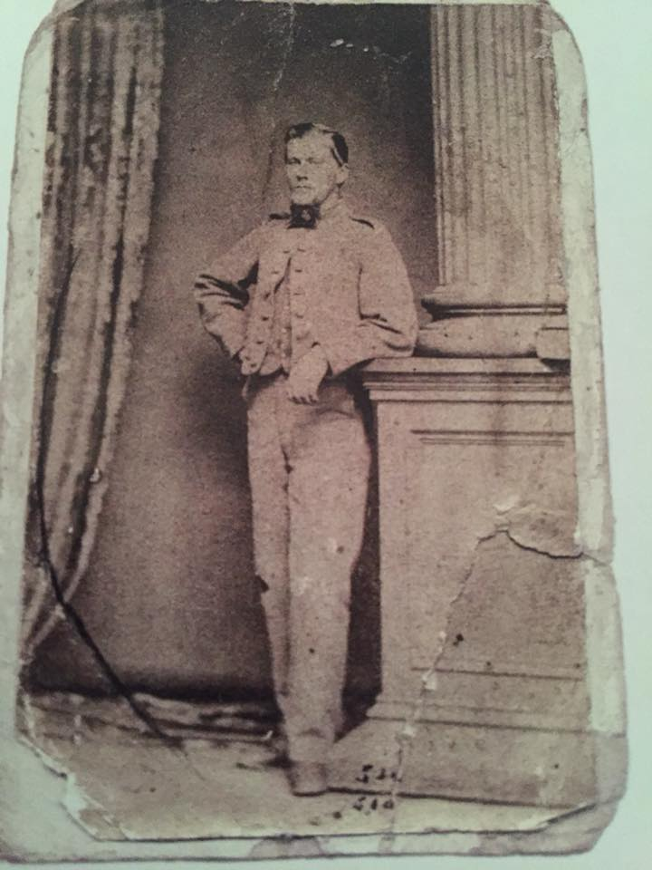 "Sgt. Benjamin Franklin Leith, Co E, 8th Virginia. Likely taken in May/June 1863 when Pickett's Division was passing through Richmond, as it's a Reese Gallery shot. Leith is wearing an 8 button ""Type 2"" Richmond Clothing Bureau Jacket. Courtesy of Military Images."