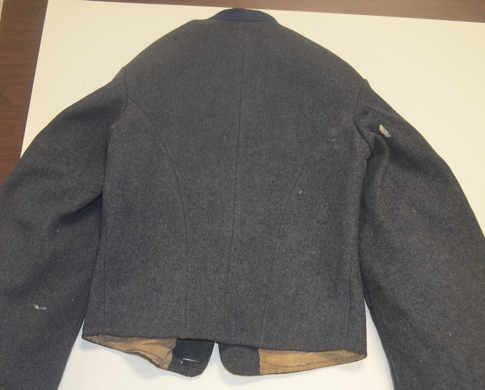 John J Haines jacket – belt loops removed