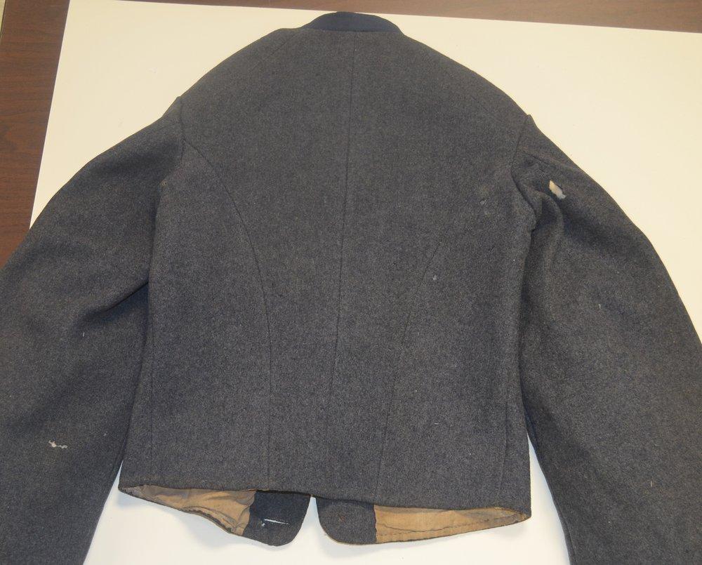 John J Haines jacket – belt loops removed