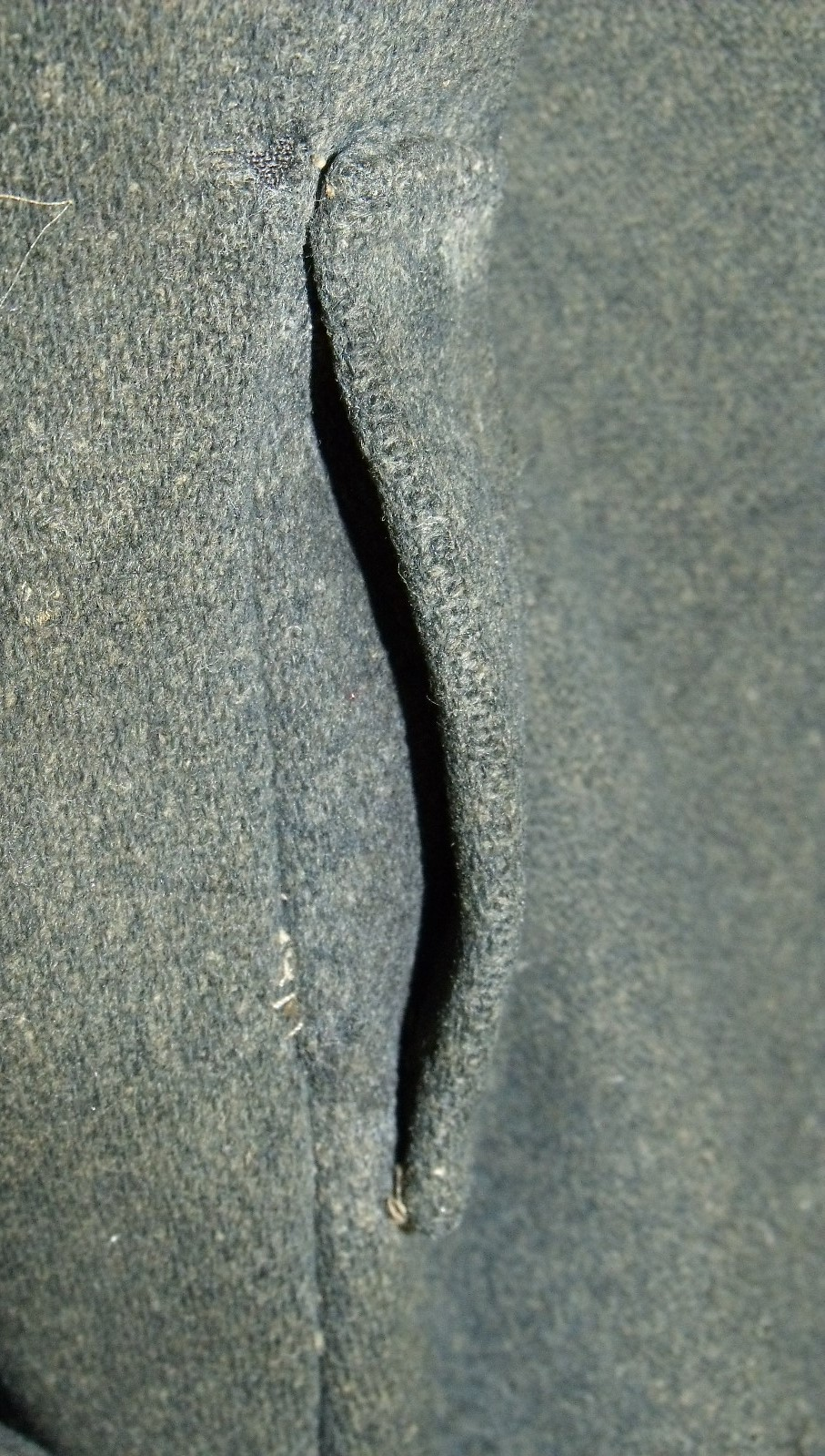 Gettysburg NPS jacket – slightly forward of side seam