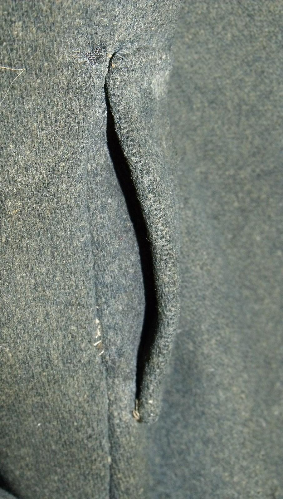 Gettysburg NPS jacket – slightly forward of side seam