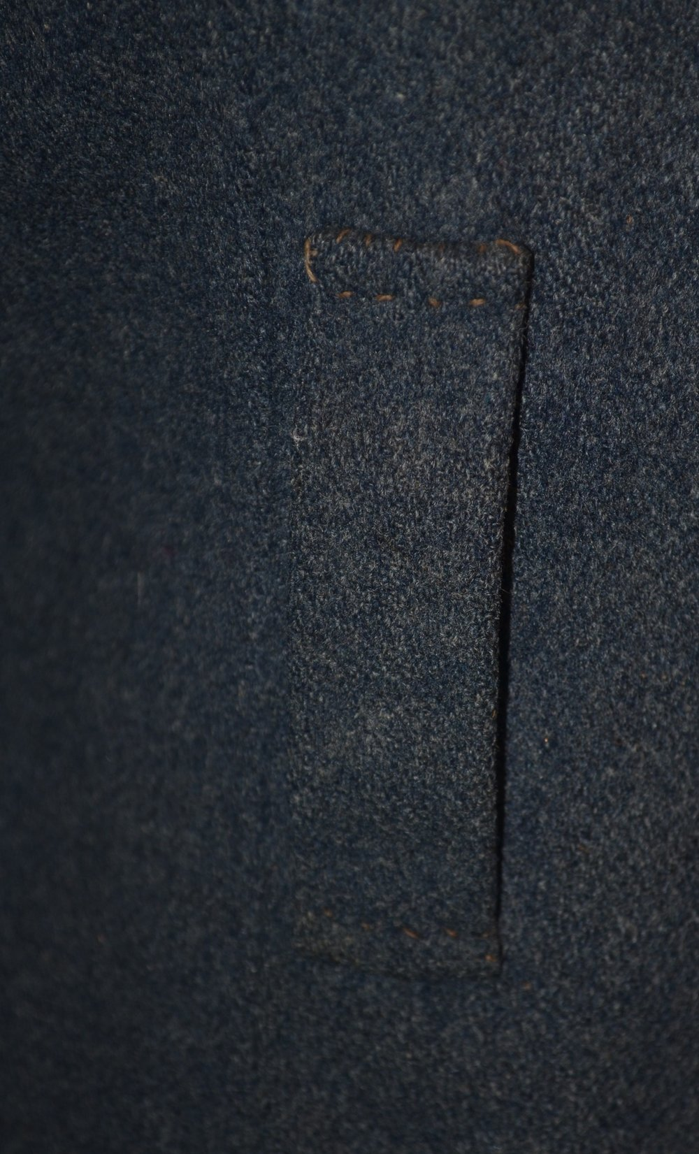 Joseph W Brunson jacket – forward of seam and sewed through outer shell before lining added