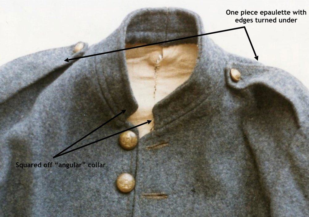 George William Ramsey jacket – collar and epaulettes (no belt loops) (transition characteristics?)