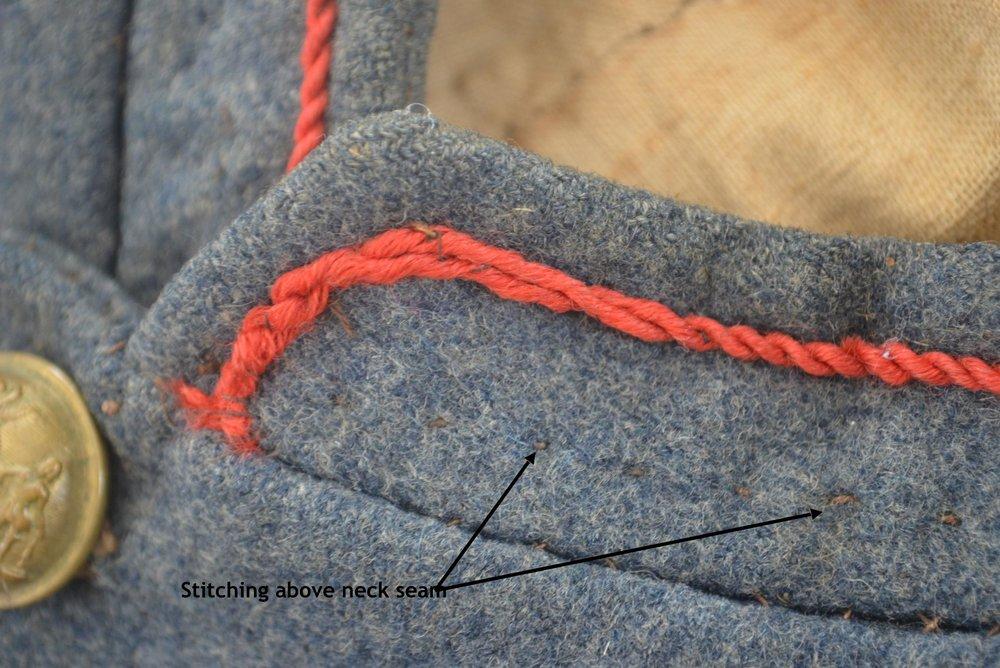 Lewis K Knight Jacket – Neck/Collar Close-up showing stitching
