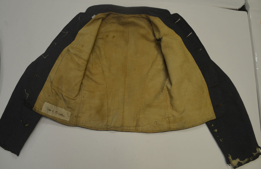 """George H T Greer Jacket (pocket on right side - possible """"goof"""")"""