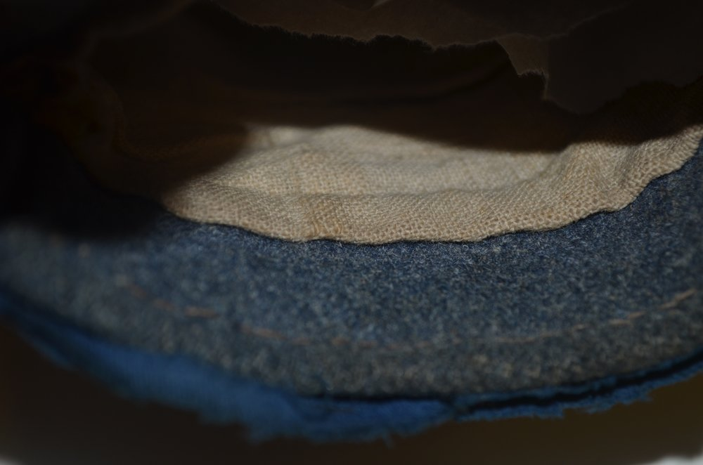 John J. Haines jacket (lining sewn to sleeve end and turned)