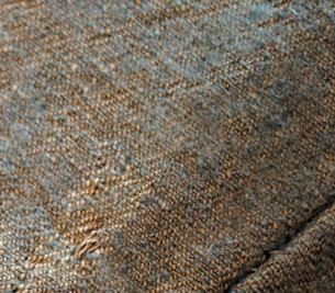 Thomas Vredenburg jacket – jeans weave, gray dyed wool on natural cotton warp (now partially faded)