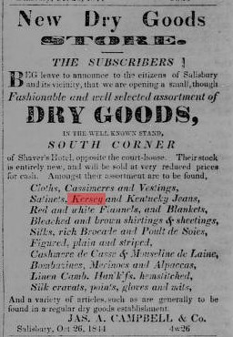 Figure 4 - Advertisement from Carolina Watchman, 11 November 1844