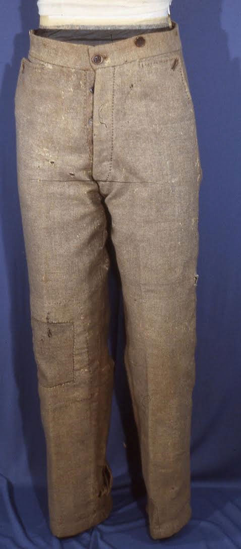 Pvt. Henry Redwood, Lt. Thomas Tolson, and Private Henry Hollyday's Richmond Clothing Bureau trousers.  Photos Courtesy of Dick Milstead.