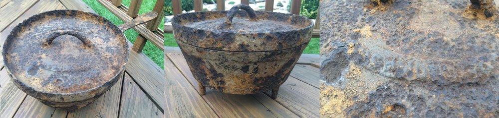 Twelve inch Asa Snyder skillet recovered from Bolivar Heights. (7)