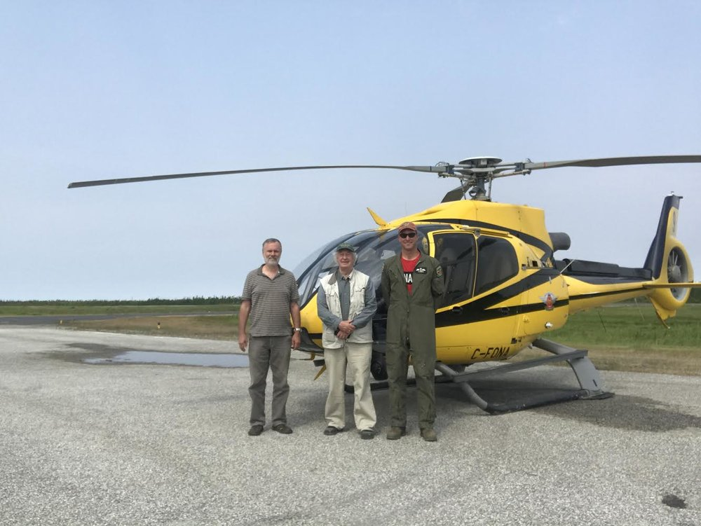 Aerial survey crew. (l-r): Ken Ross, Guy Morrison, Rob Burns. Photo courtesy Rob Burns.