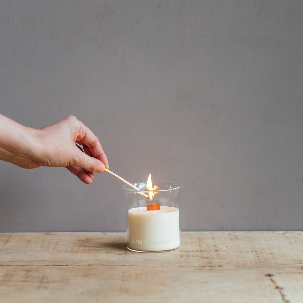 Essence + Alchemy: The Relaunch:  Lesley Bramwell of Essence + Alchemy spends a lot of her time in her laboratory mixing batches of rapeseed wax candles that crackle and smell of wild gardens and the sky above the clouds....