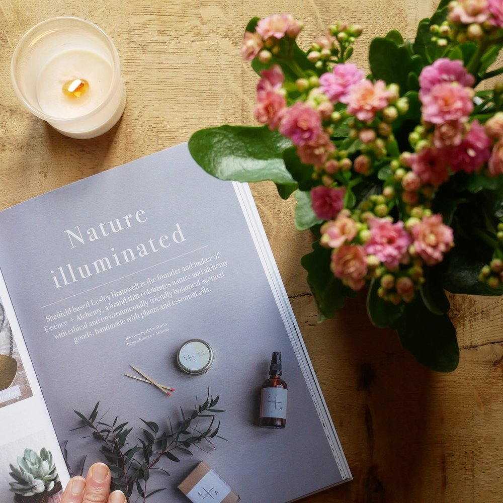 """Lionheart Magazine - Nature Illuminated  The tag line for Essence + Alchemy is """"inspired by the elements' ..."""