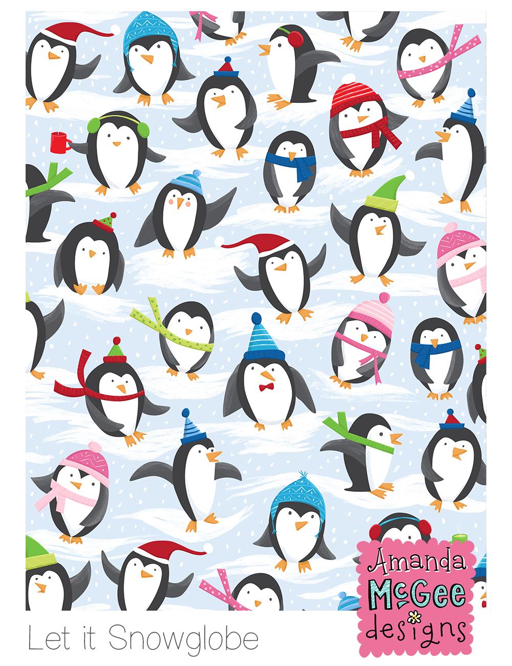 AmandaMcGee_SurfacePattern_LetItSnowglobe-Penguins.jpg