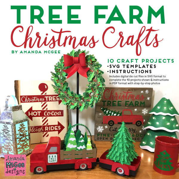 Tree Farm Christmas Crafts 10 Craft Project Digital Die Cut Svg