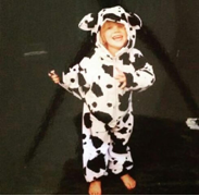 And Heidi in P'boro, being a cow just because she loved them!