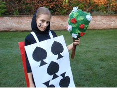 Then Morris No.2- The Five of Spades painting the rose bush, Alice In Wonderland