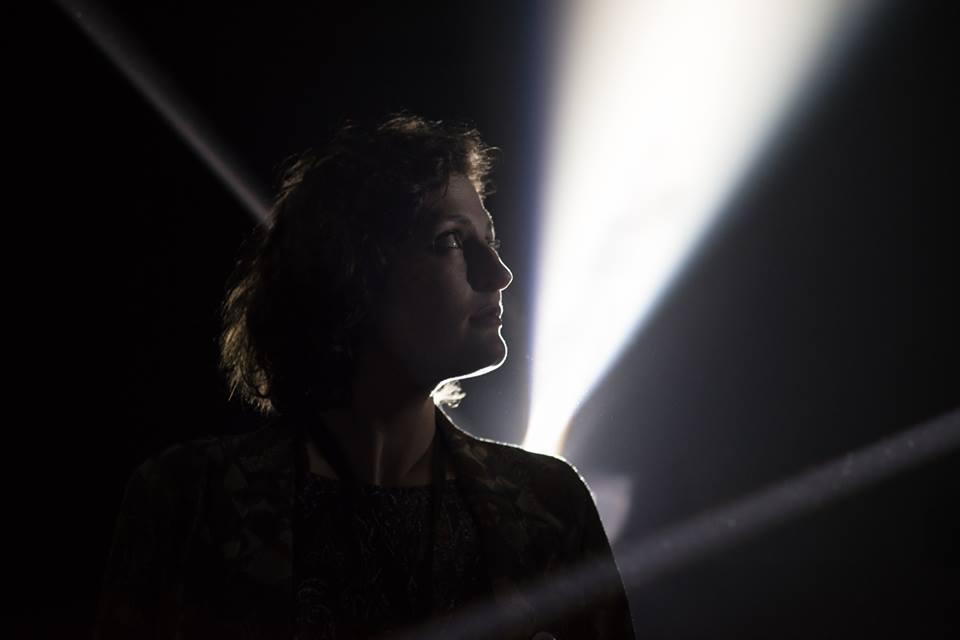 Sarah Calmus in Mandala Prism at the Hidden Door Festival, Edinburgh, 2016. Photo Credit: Weronkika Bachleda-Baca, 2016