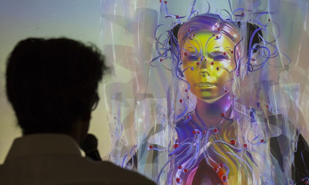 Someset House Director Jonathan Reekie interviews Bjork's avatar streaming live from Iceland