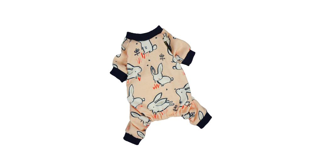 Fitwarm Pink Bunny Cotton Dog Pajamas
