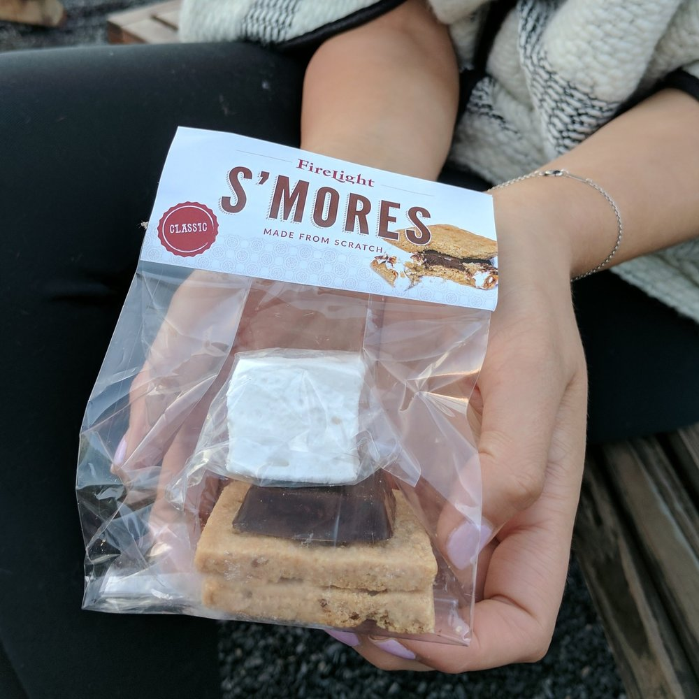 Made-from-scratch s'mores at Firelight Camps