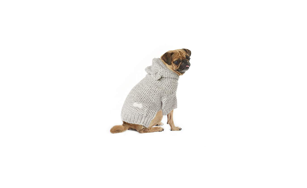 Wag-A-Tude Gray Marled Sweater