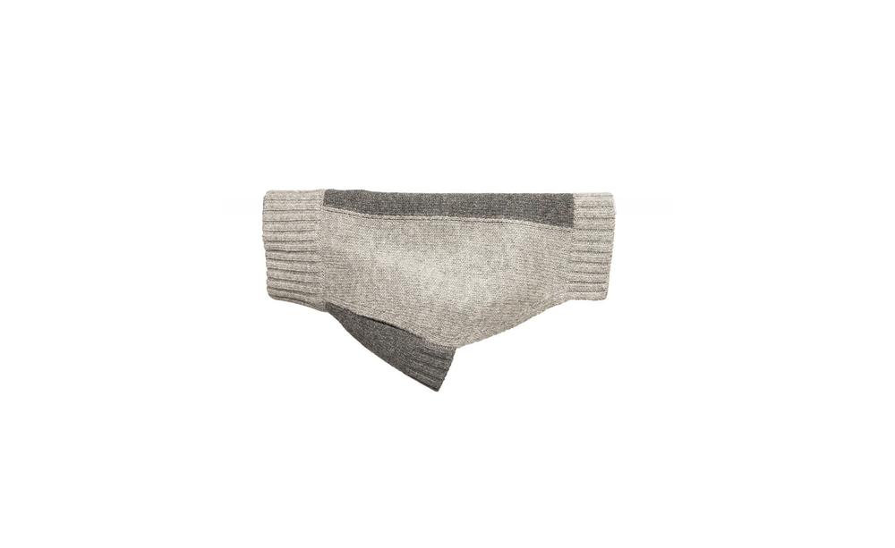 Striped Cashmere Grey on Grey Sweater