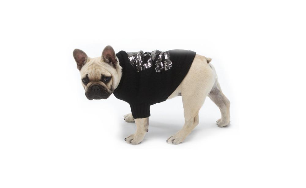 Sequin Skull Dog Sweater
