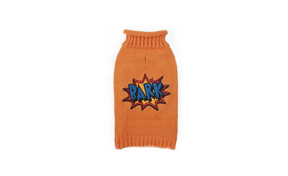 Rollneck Knit Comic Dog Sweater