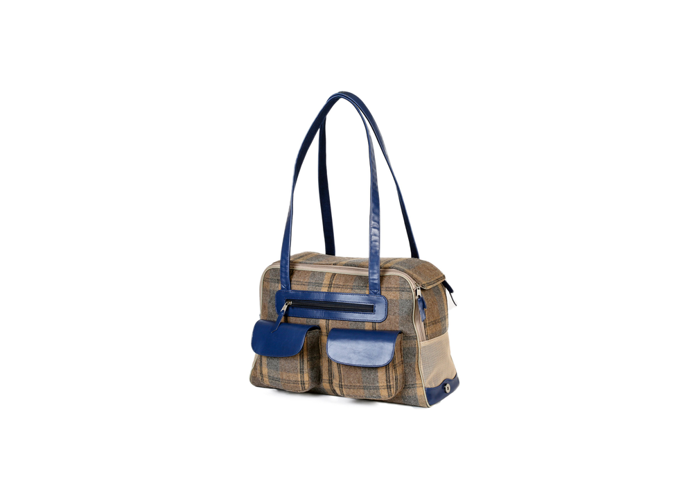 Canine Styles Blue and Plaid Carrier