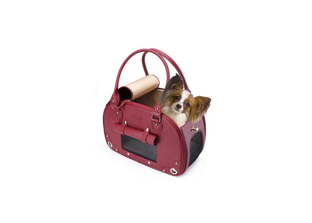 PetsHome Leather Dog Carrier
