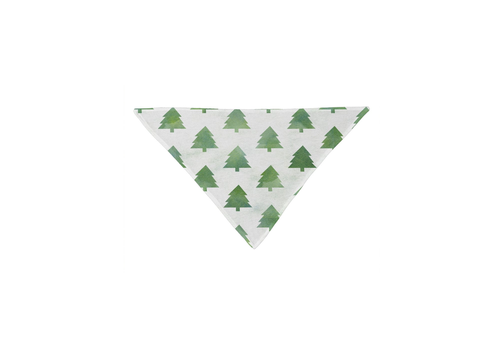 Pine Tree Forest Pattern Pet Bandana