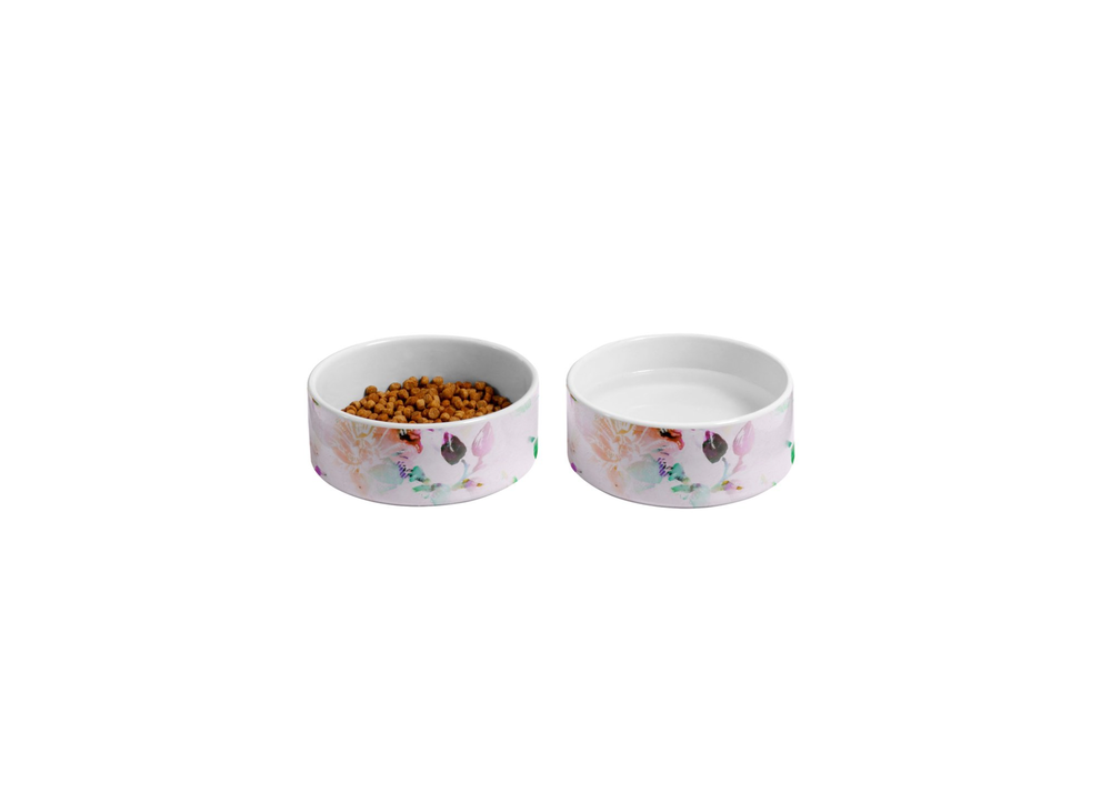 Romantic Flowers Pet Bowl