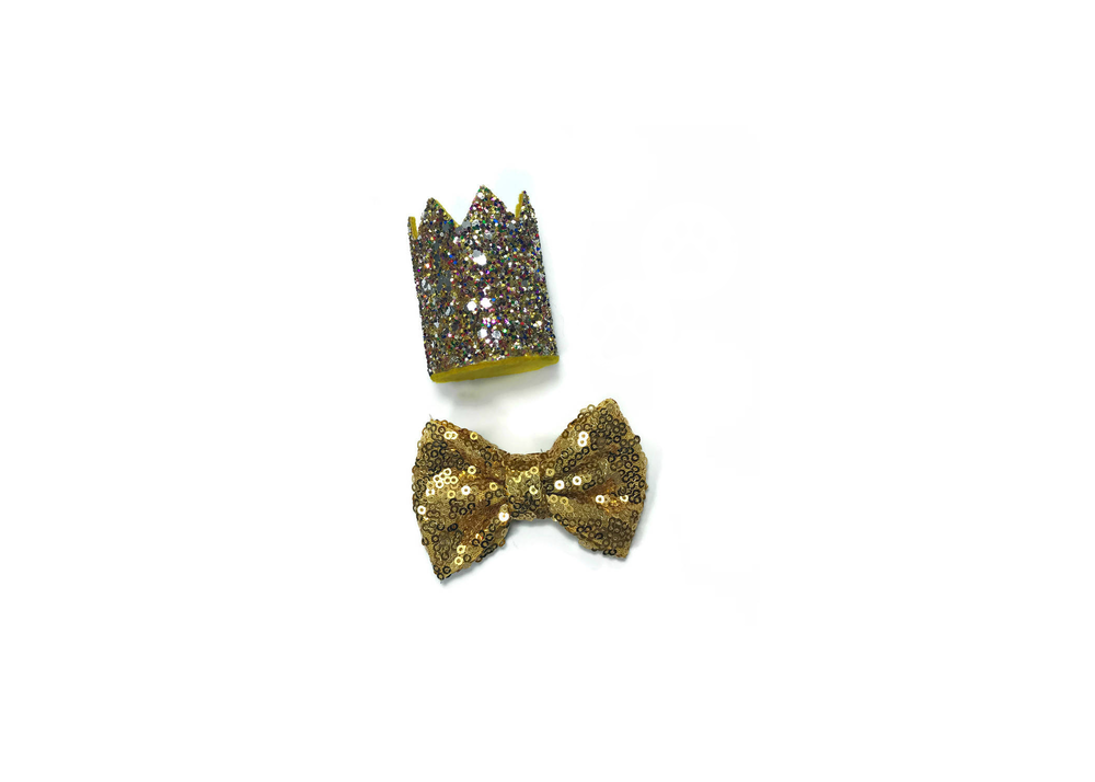 Dog Bow Tie and Crown Set