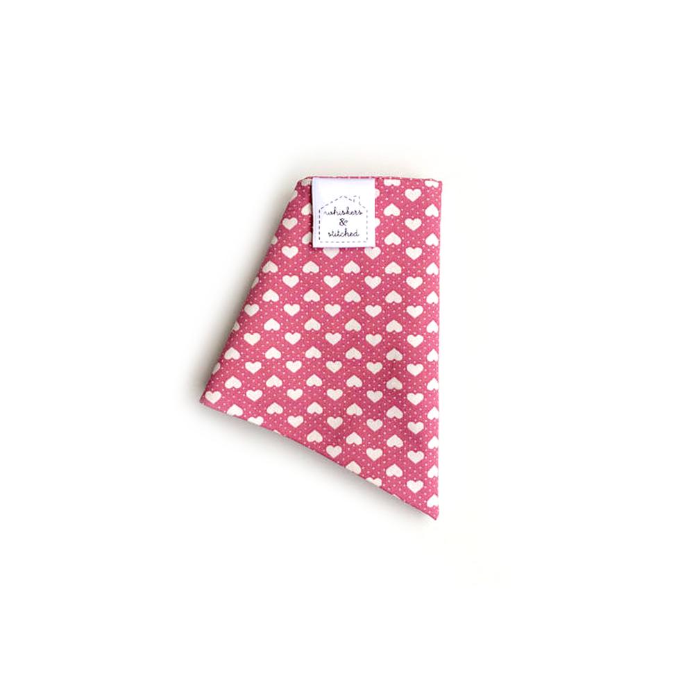 Pink Valentine's Heart Print Bandana