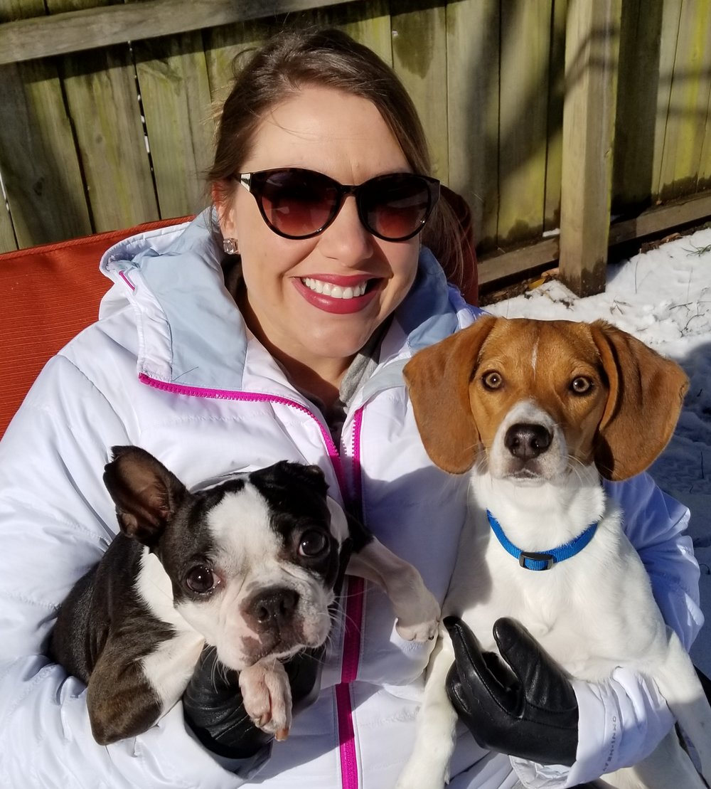 Erin Tonning of Tukabear Treats with her dogs