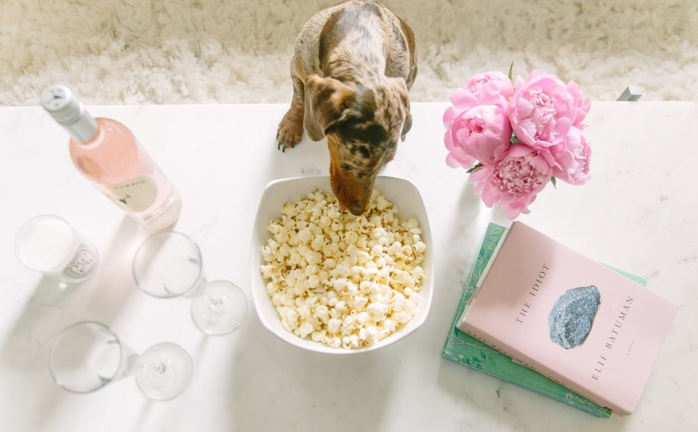 Our little popcorn thief