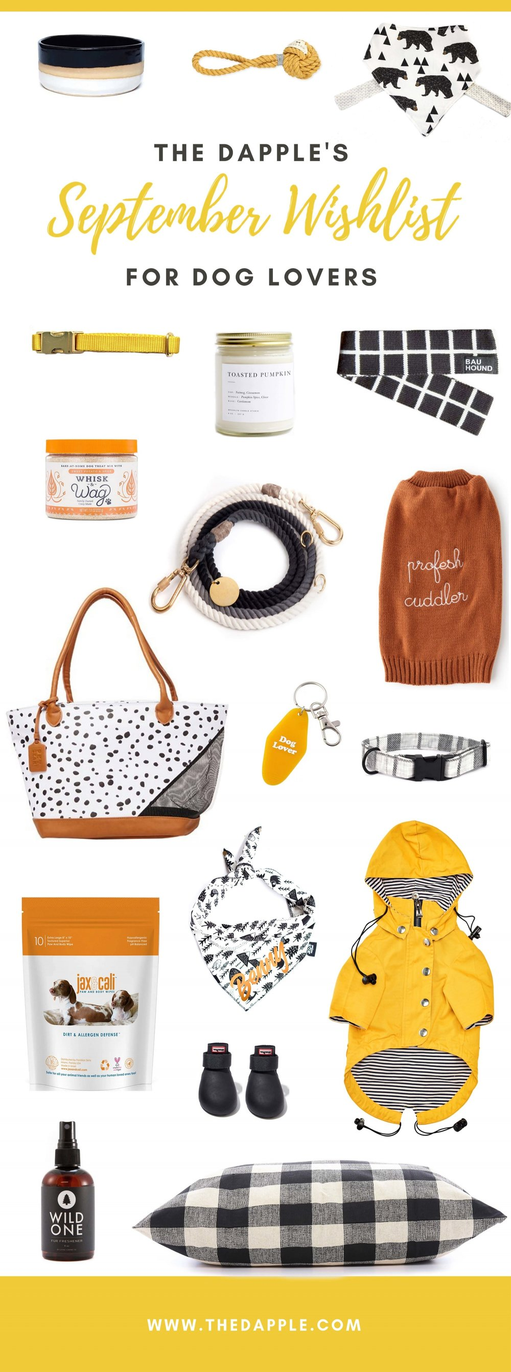 Best New Items for Dogs and Dog Lovers September 2018 Shopping Guide on The Dapple Lifestyle Blog