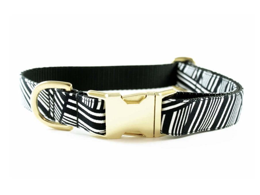 bonjour fido!'s  Black and White Zebra Collar