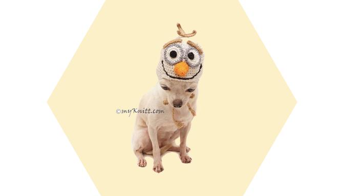 Olaf Dog Costume from MyKnitt Handmade Dog Clothes