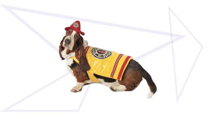 Firefighter Dog Halloween Costume from Target
