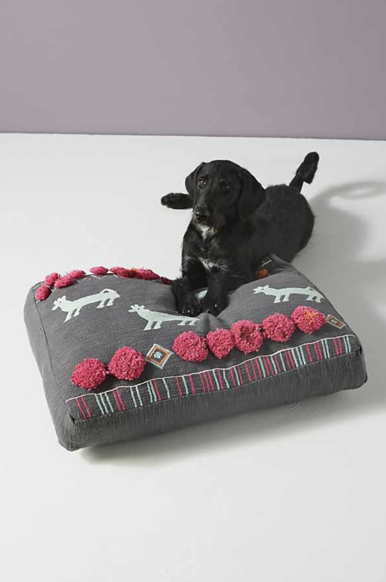 Plush Applique Dog Bed - The Best New Dog Items at Anthropologie