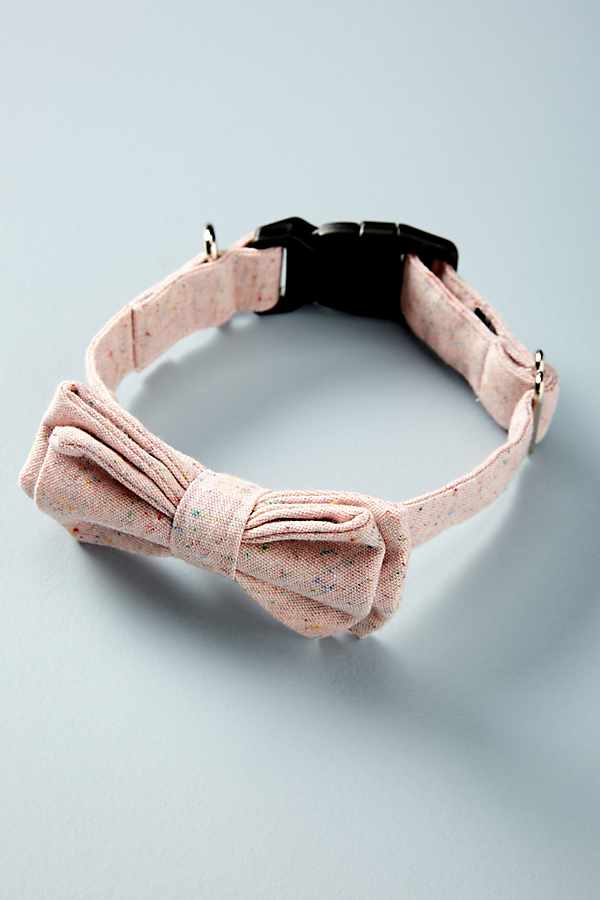 Rose Bow Tie Dog Collar - The Best New Dog Items at Anthropologie