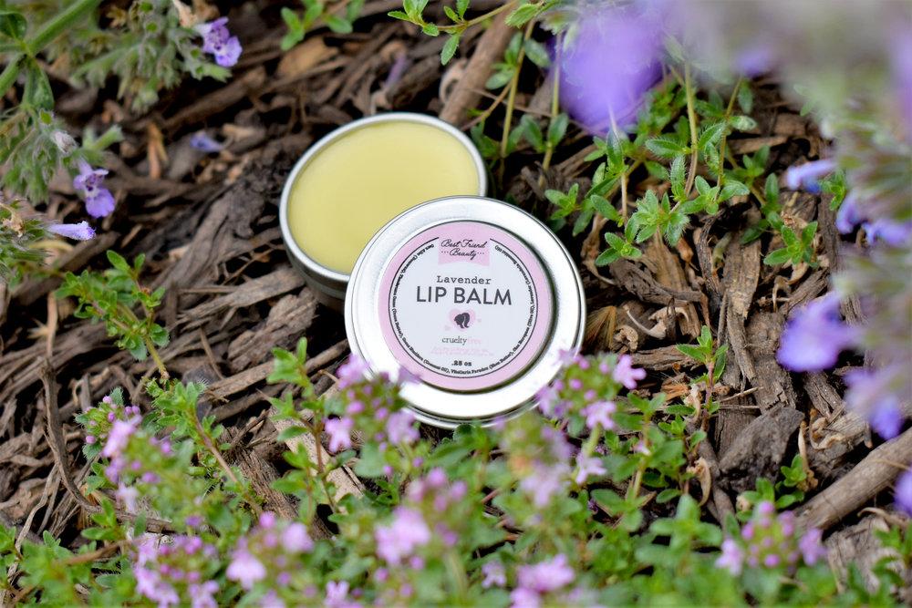Best Friend Beauty's Lavender Lip Balm