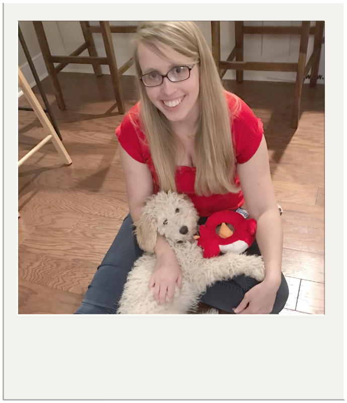 Kimberly Langston with her dog, Gracie