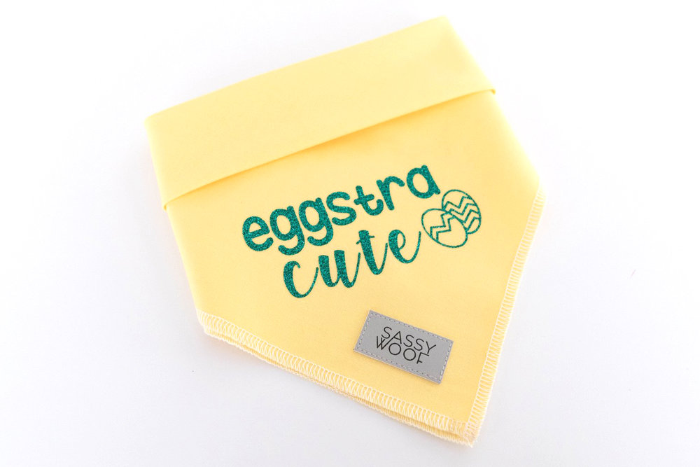 Eggstra Cute Easter Dog Bandana By Sassy Woof on The Dapple: Dog Lifestyle Site