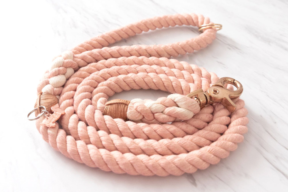 Blush Dog Leash By Sassy Woof on The Dapple: Dog Lifestyle Site